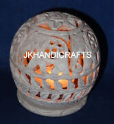 3 Marble Tea Light Candle Holder Elephant Filigree Dining Table Decor Gifts