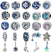 New 925 Sterling Silver Dazzling Star And Night Sky Starry Charm Pendant Jewelry