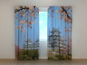 Window Printed Curtain Japan Motif By Wellmira For Living Room