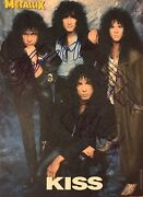 Kiss Signed Photo Gene Simmons Paul Stanley Autographed Bruce Kulick Eric Carr 2