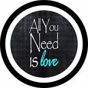 All You Need Is Love Teal Spare Tire Cover Any Size Any Vehicletrailerrv