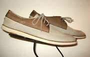 J Shoes District Fab Casual Cool Slate Gray Brown Leather Trim Oxford Sz. 11