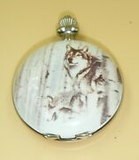 Milan Collectible Pocket Watch New Battery Model Mln198p Wolves Scene
