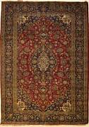 Rugstc 4.5x7 Senneh Pak Persian Red Rug Hand-knottedtribal Traditionalwool