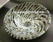 18 Round Marble Counter-top Washbasin Mother Of Pearl Sink Bathroom Art Gift