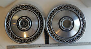 Pair Of Mercury Cougar Ford Ltd And Crown Vic 1970and039s-80and039s 16 Hubcaps