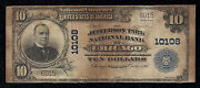 Jefferson Park N.b Chicago Il Ch 10108 10 Series 1902-pb 7 Notes Reported