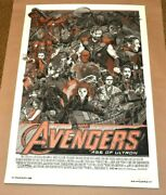 Tyler Stout 2015 Avengers Age Of Ultron Poster Signed - Cast And Crew Variant Ap