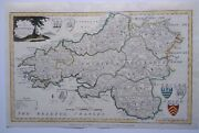Antique Map Of South Wales By Alexander Hogg And Thomas Conder 1794