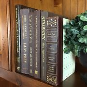 Brown Decorative Book Lot Gold Copper Instant Library Staging Vintage Modern