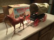 Marx Vintage Stage Coach Chuck Wagon Johnny West Best Of The West Used W/box