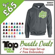 Custom Embroidered Hoodie Personalised With Your Own Logo Design