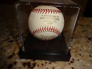 2009 World Series Official Baseball Phillies Yankees With Acrylic Display Case