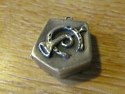 Superb Fully Hallmarked Geometric Locket With Horseshoe / Horn Motif