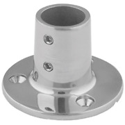 Taco F14-0039 Boat 7/8andrdquo Tube Size 90anddeg Stainless Steel Round Base Rail Fitting