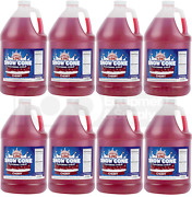 8 Gallon Case Carnival King Cherry Red Snow Cone Crushed Ice Machine Syrup