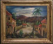Mid Century Expressionist Philip Kran Paval 1899-1971 Denmark American Signed