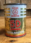 Vintage Cities Service Oil 5d Koolmotor Promotional Coin Piggy Bank Tin Can 3andrdquo