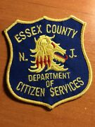 Patch Police Essex County Citizen Services Dept. Nj New Jersey State