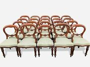 Amazing Sets Of Victorian Style Balloon Back Chairs Pro French Polished