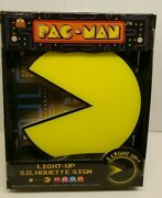New Pac Man Light Up Silhouette Sign Pacman Yellow I Light Up In Box