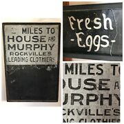 Rare Antique Early 1900s Tin Framed Clothing Miles Sign Painted Orig Ithaca