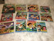 Lot Of 12 Dora And Diego Books -1 New W/ Dvd And 1 Book W/ 7 Stories