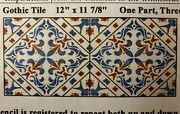 New La Stencilworks Andnbspgothic Tile Andnbsp3140 12x12 Each Tile Decorative Wall Decor