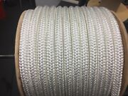 """1"""" One Inch Polyester Double Braid Rope 300 'white"""