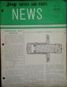 1964 Jeep Service And Parts News Brochure Folder July Aug