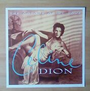 Celine Dion-promotional 12 X 12 Card Flat The Colour Of My Love