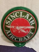 Sinclair Aircraft 13.5 Gas Pump Globe W/ Green Plastic Body 16overall Size