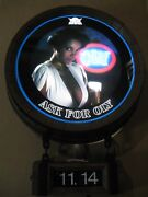 New Vtg Olympia Beer Black Bear Woman Lady Chic Motion Clock Bar Light Pub Sign