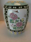 Antique Large Chinese Vase Famille Rose Hand Painted Mark By The Maker