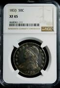 1833 Capped Bust Half Ngc Xf 45 Nice Original Coin Very Nearly Proof Like C Pix