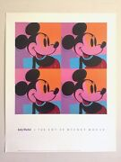 Andy Warhol Rare 1981 The Art Of Mickey Mouse Lithograph Print Pop Art Poster