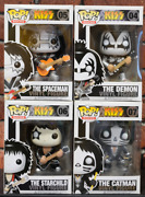 Funko Pop Rocks Kiss Set Of 4 With Protector