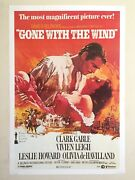 Rare Vintage 1980 Collector's Iconic Movie Poster Gone With The Wind 1939