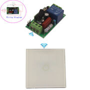 220v 110v Relay 1ch Touch Wireless Wall Switch Transmitter Lamp Lights On/off
