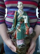Porcelain Figurine China Wise Man Excellent Condition Height 30 Cm
