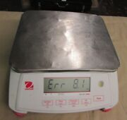 Used Ohaus V71p3t Valor 7000 Compact Bench Scale 6lb X 0.0002lb --- For Parts