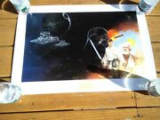 Star Wars Legacy Of The Jedi Dave Dorman Rolling Thunder Poster Signed And Numbere