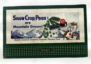 1950's Mini Advertising Subway Card For Snow Crop Peas