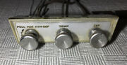 1963 Plymouth Valiant Climate Controls Bezel Heater Vent Cables W Clips And Screws