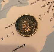 1870 Indian Head Penny - Circulated One Cent - Key Date