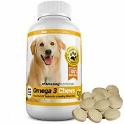 Omega 3 Fish Oil Chewable Tablet For Dogs - Promotes Healthy Bones 120 Tablets