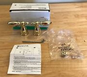 Delta Faucet H216pb Two Small Metal Lever Handle Kit Read Below