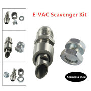 1 Set Stainless Steel E-vac Scavenger Kit 304 Exhaust Vacuum Fitting Car Silver