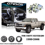 18x White Led Interior License Lights Package Kit For Chevy Silverado 1999-2006
