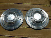 70 71 Dodge Charger Challenger Dart 14 Hubcaps Hub Caps Good Used Oem Pair
